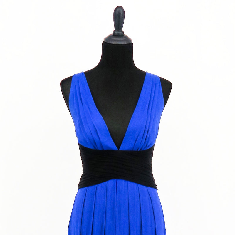 BCBG Maxazria Color Blocked Evening Gown