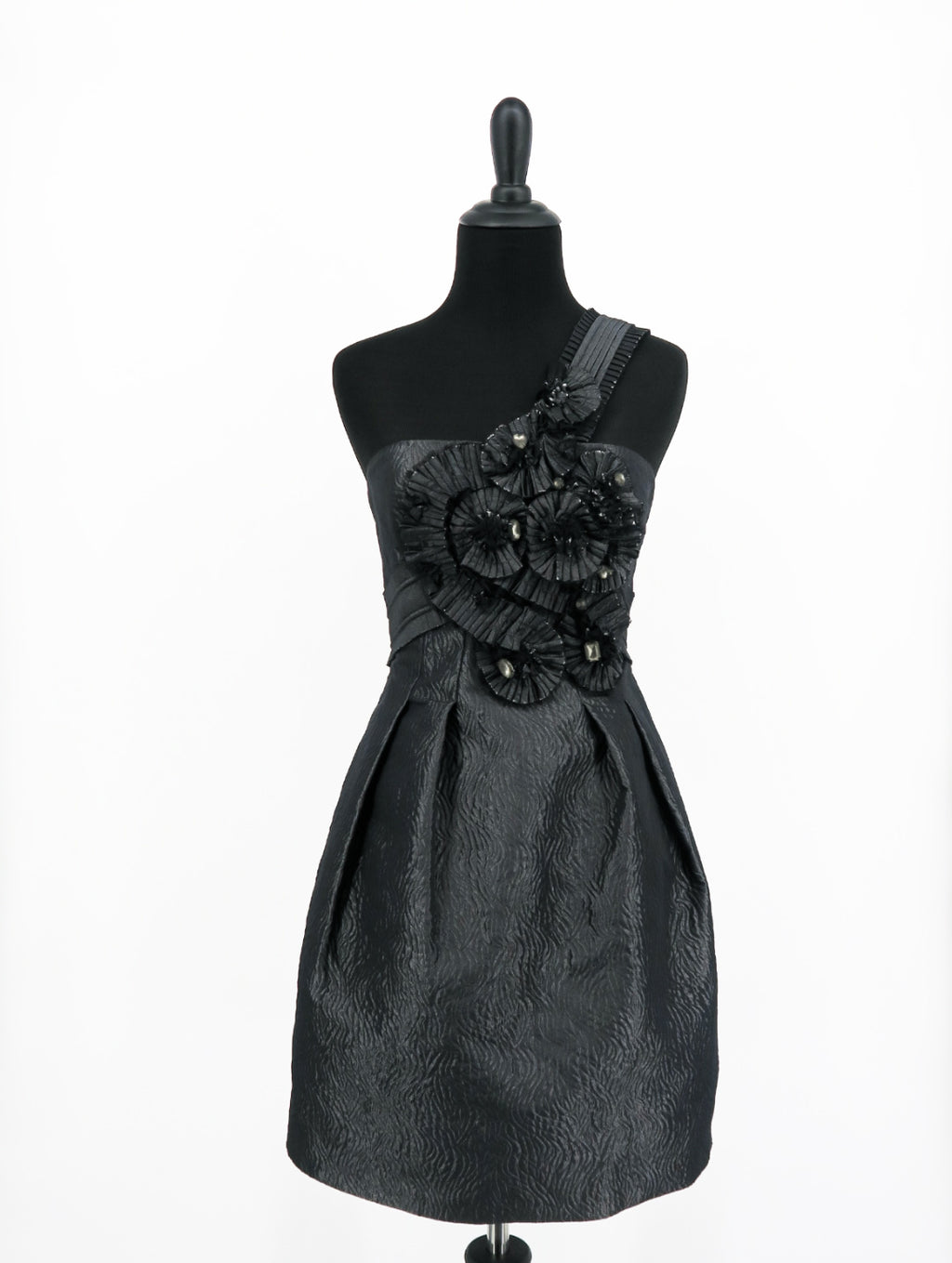 BCBG Maxazria Gunmetal Azria One Dress - Sachy's Closet