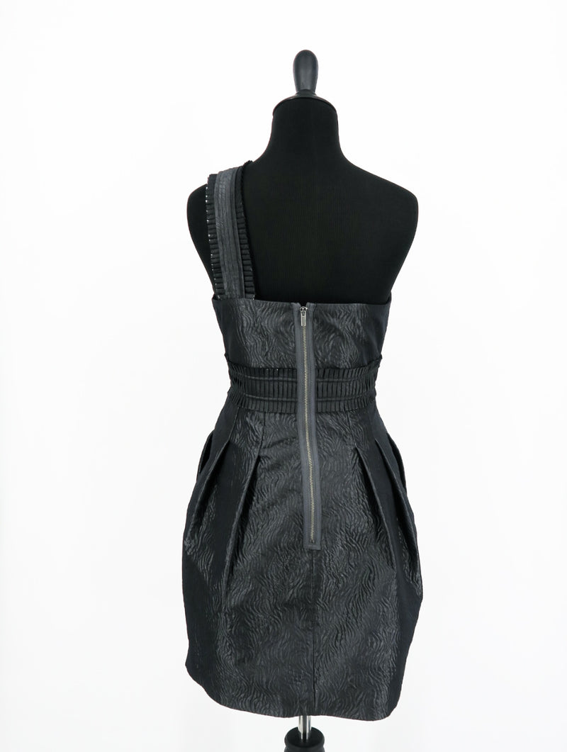 BCBG Maxazria Gunmetal Azria One Dress