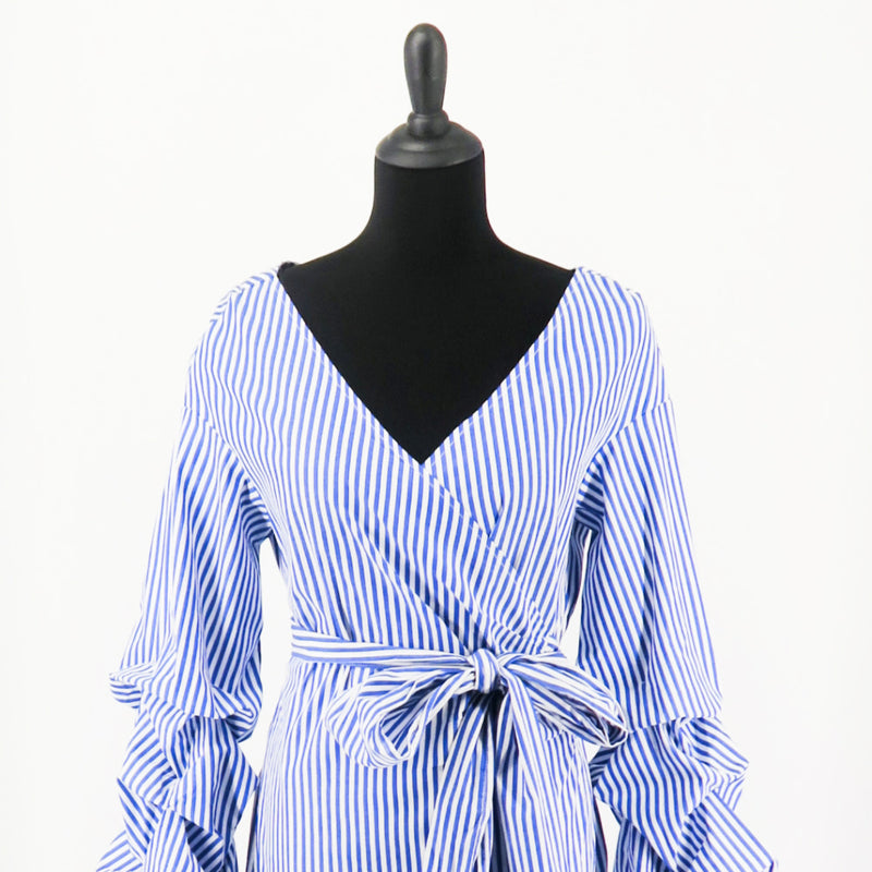 Renvy Off the Shoulder Wrap Dress - Sachy's Closet
