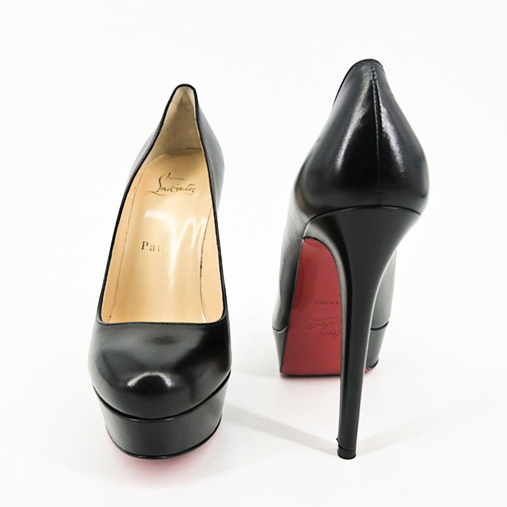 Christian Louboutin Bianca Pumps - Matte Black - Sachy's Closet