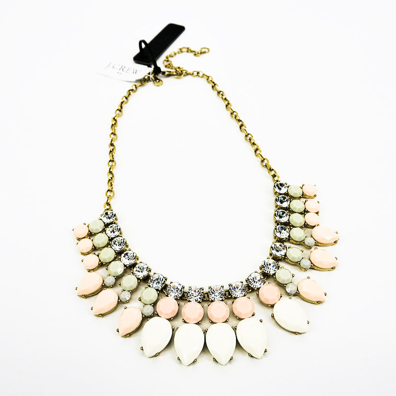 J. Crew Nude Tone Drops Statement Necklace - Sachy's Closet