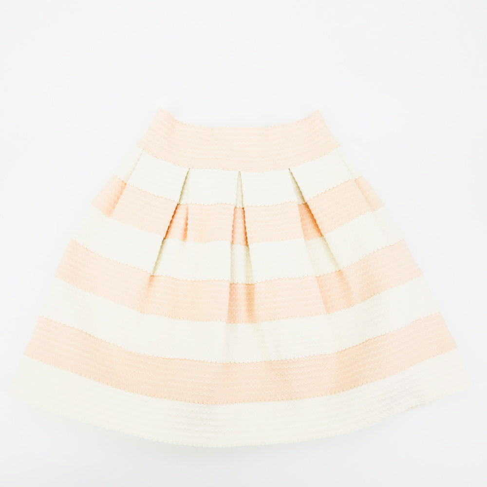 Sis Sis Scallop Pink & White Skirt - Sachy's Closet