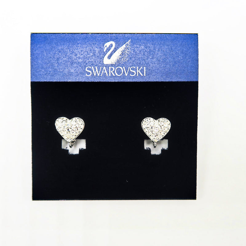Swarovski Heart Earrings - Sachy's Closet