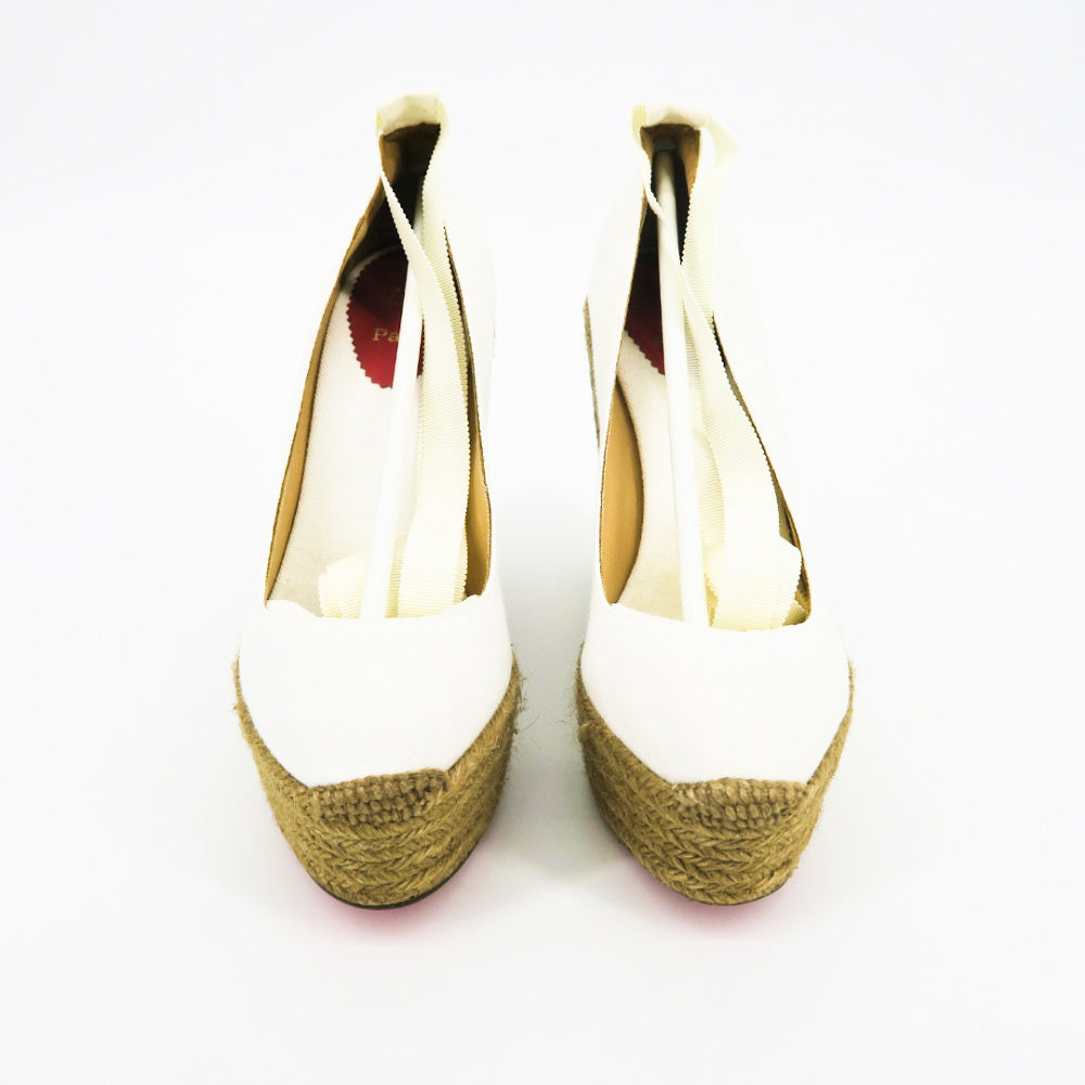 Christian Louboutin Espadrille Wedges - Sachy's Closet