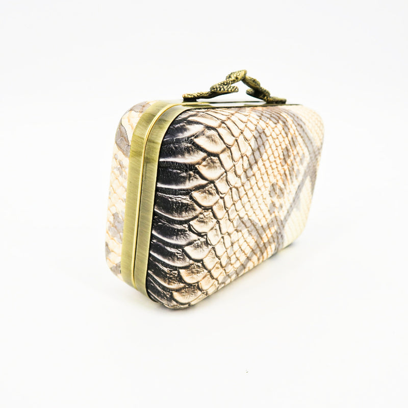 House of Harlow 1960 Snake Clutch