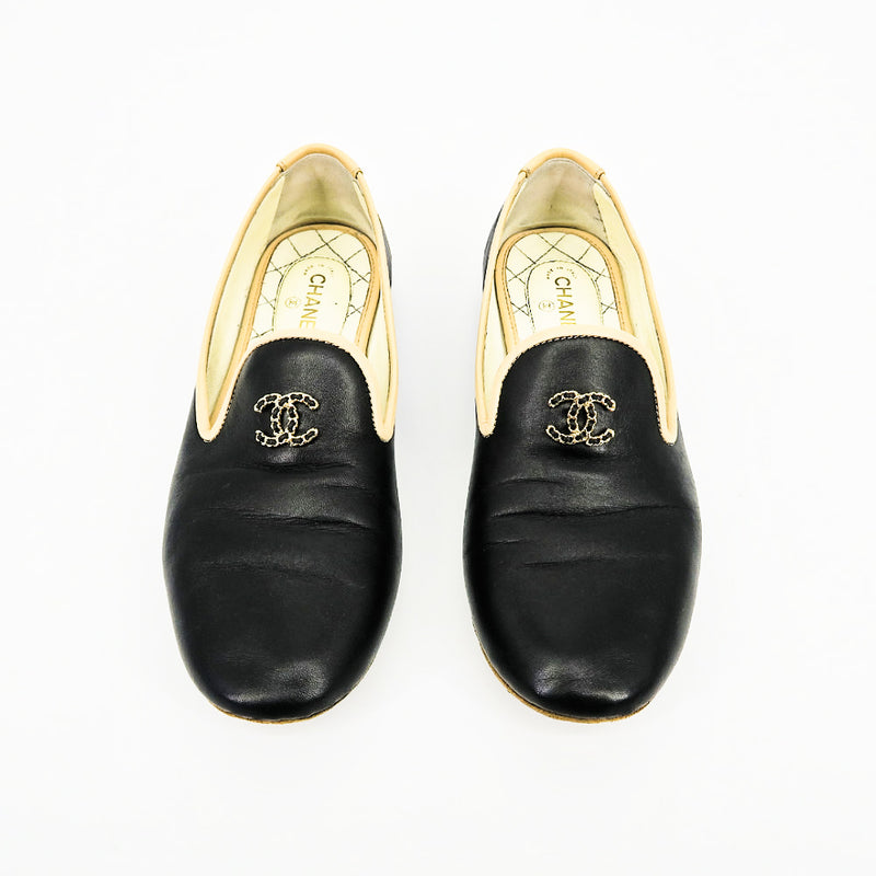 CHANEL Smoking Slippers