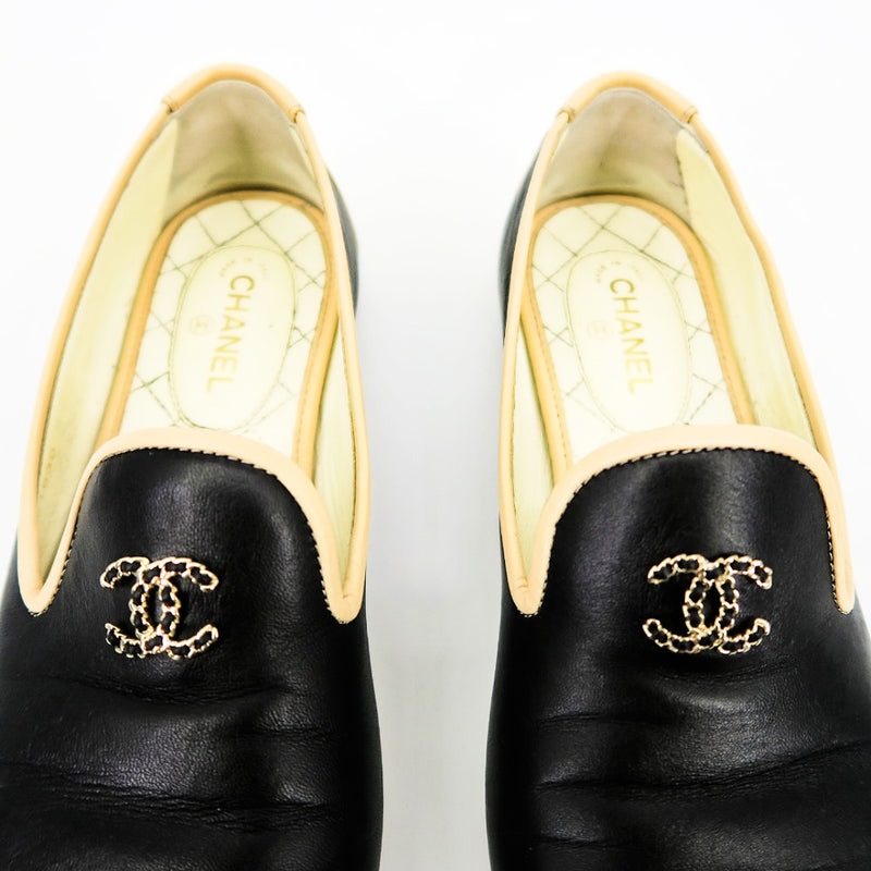 CHANEL Smoking Slippers - Sachy's Closet