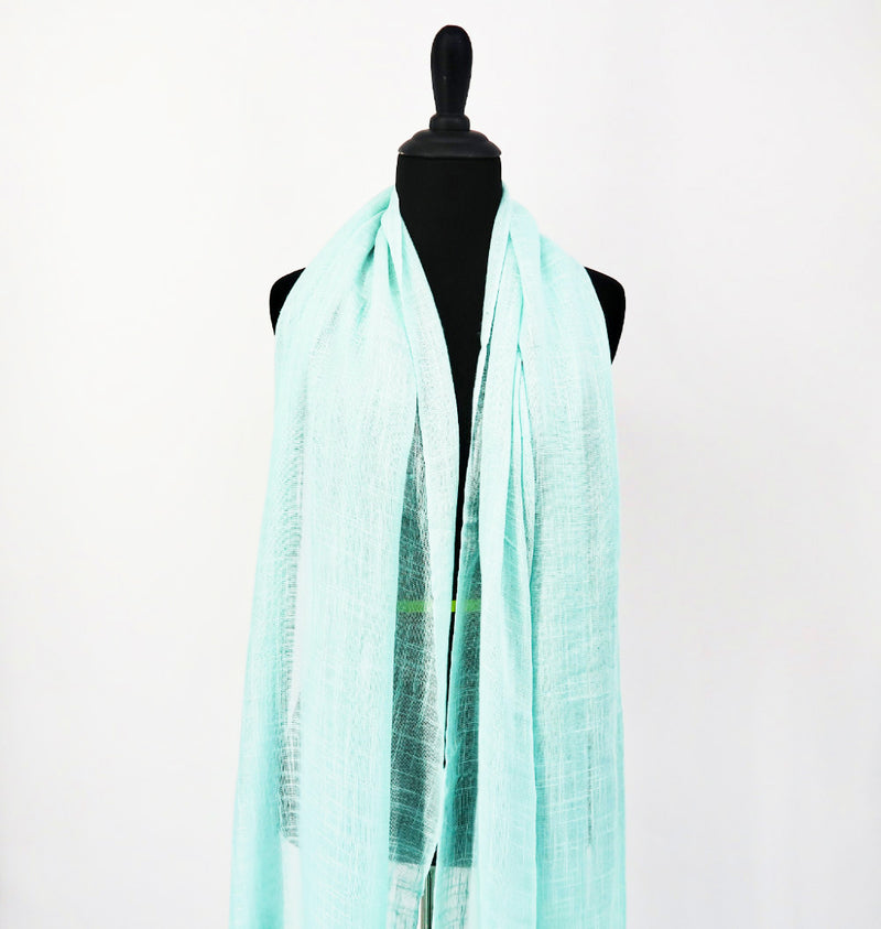 SCTB Spring Scarf in Teal - Sachy's Closet