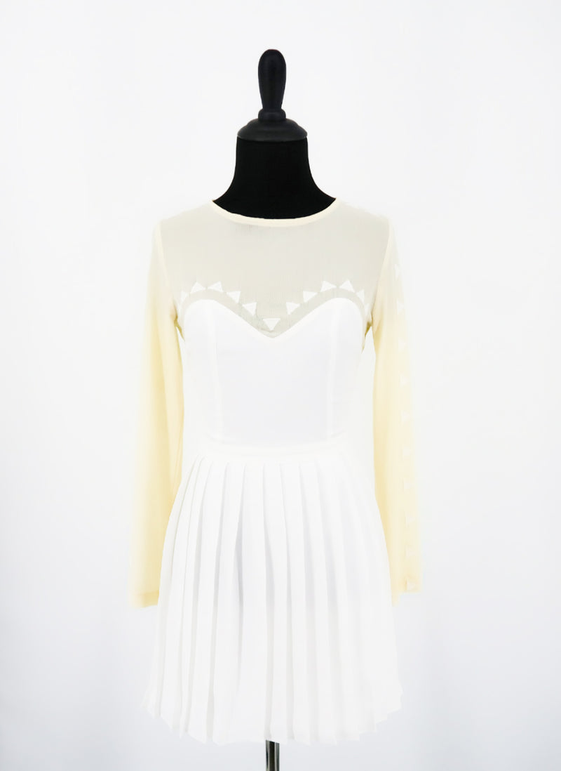 Stylestalker Pleated White Dress