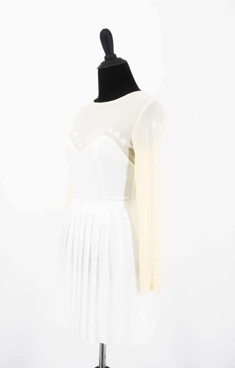 Stylestalker Pleated White Dress - Sachy's Closet