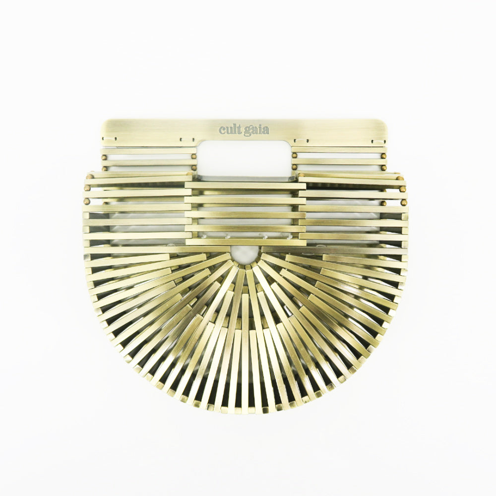 Cult Gaia Brass Arch Clutch