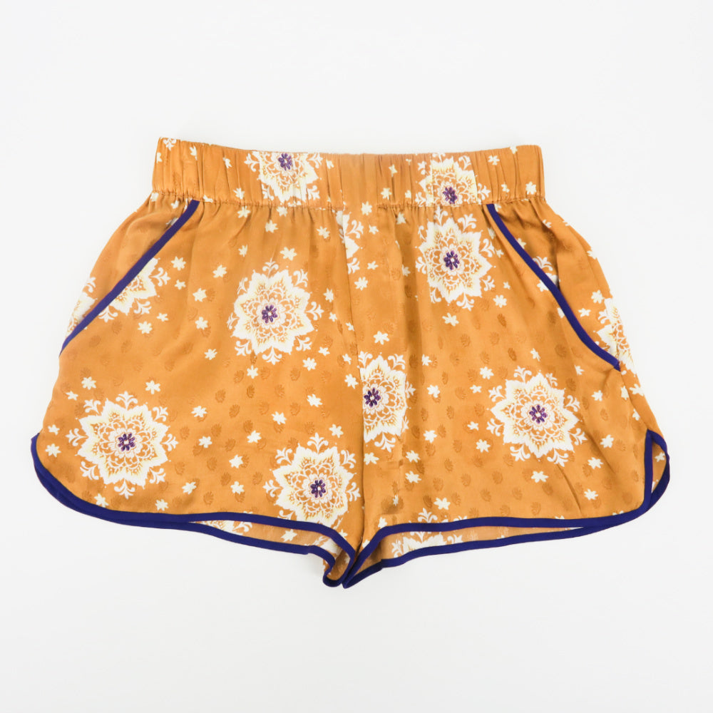 Zara Asian Print Silk Shorts - Sachy's Closet