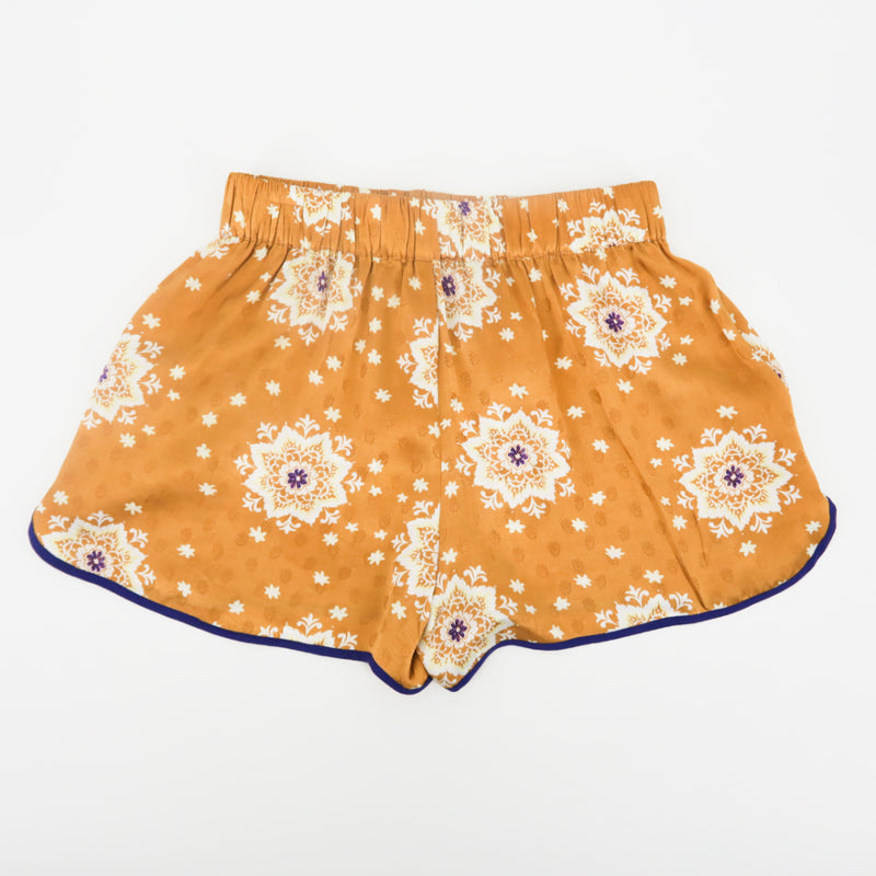 Zara Asian Print Silk Shorts