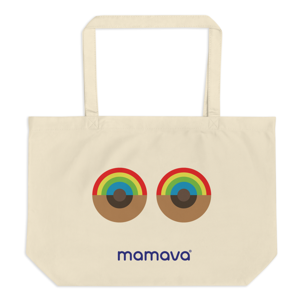 """Rainboob"" Large organic tote bag"