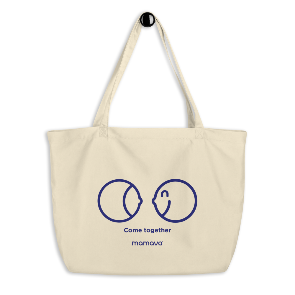 """Breast Friends"" Large organic tote bag"