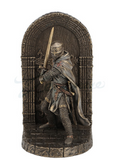 FIGURA ARMORED MALTESE CRUSADER WITH SWORD GUARDING DOOR  BOOKEND
