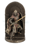 FIGURA ARMORED MALTESE CRUSADER WITH SWORD AND SHIELD GUARDING DOOR BOOKEND