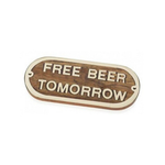 PLACA HELLY FREE BEER TOMORROW 20X9X1 CM