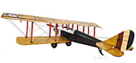 YELLOW CURTIS JENNY PLANE 1:18-SCALE Largo48 x Ancho69 x Alto20 cms