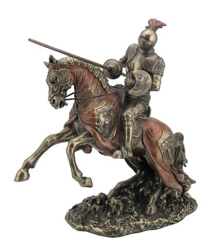 FIGURA JOUSTING ARMORED KNIGHT WITH EAGLE EMBLEM