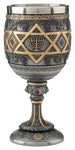 FIGURA STAR OF DAVID MENORAH CHALICE