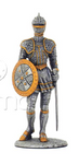 ARMOUR PEWTER WARRIOR HOLDING WITH SHIELD