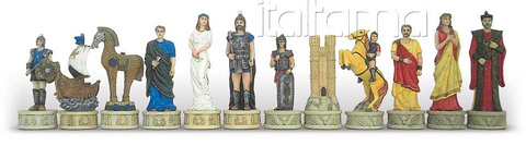 CHESS/MEN RESIN CM 12 BATTLE OF TROY 73299