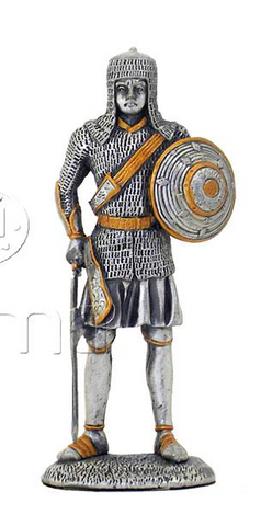 ARMOUR PEWTER KNIGHT WITH SHEILD IN LEFT HAND