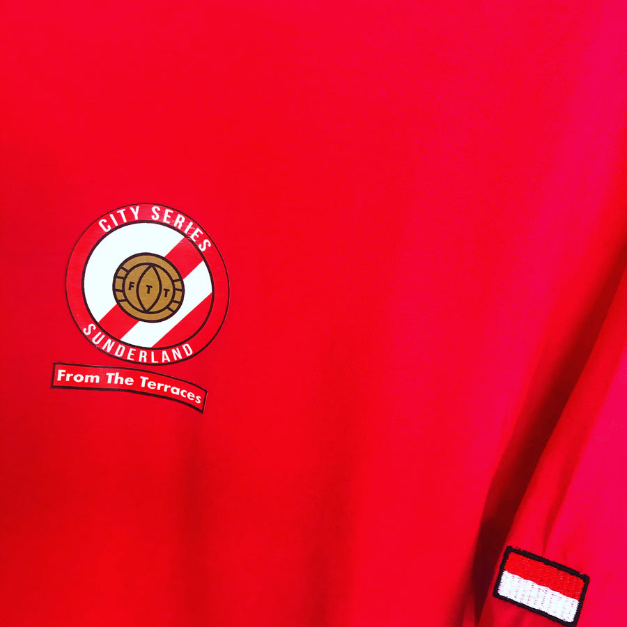 Sunderland City Series Tee - Red and White - From The Terraces