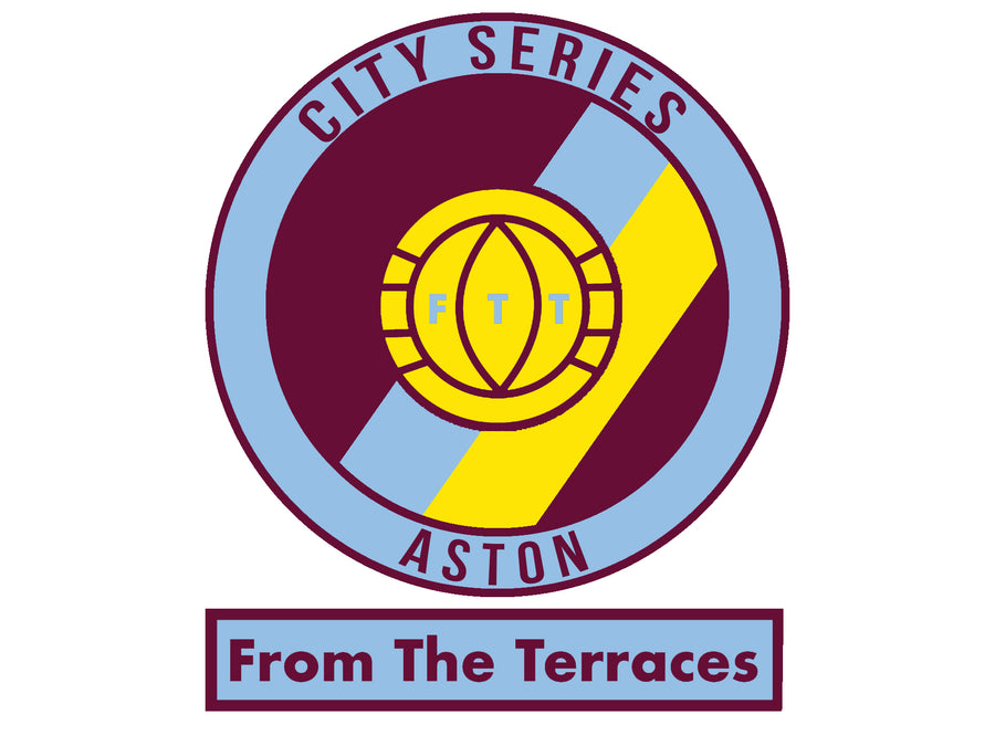 Aston City Series Tee - Claret & Blue - From The Terraces