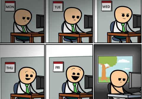 Cyanide & Happiness 9 to 5 Print (autographed)