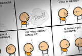 Cyanide & Happiness Wish for Grants Print (autographed)