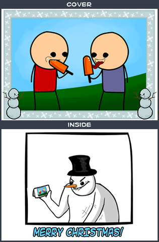 Cyanide & Happiness Popsicle Greeting Card