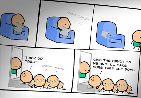 Cyanide & Happiness Human Centipede Print (autographed)