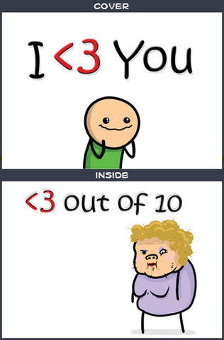 Cyanide & Happiness Less Than <3 Greeting Card