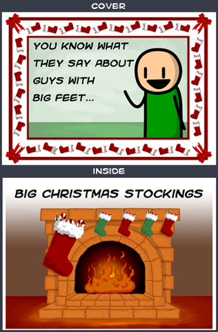 Cyanide & Happiness Big Feet Greeting Card