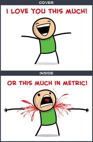 Cyanide & Happiness Metric Greeting Card