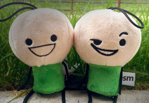 Cyanide & Happiness Mini Green Sleazy and Happy Plushies