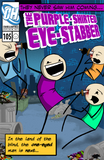 Cyanide & Happiness Purple Shirted Eye Stabber Poster