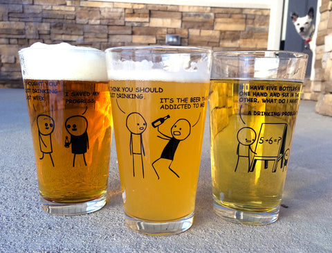Cyanide & Happiness Triple Pack Pint Glass Bundle Deal