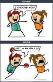 Cyanide & Happiness Get In My Balls Greeting Card