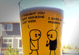 Cyanide & Happiness I Saved My Progress Pint Glass