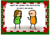 Cyanide & Happiness X-Mas Fight Greeting Card