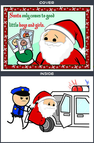 Cyanide & Happiness Santa Comes Greeting Card