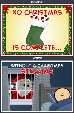 Cyanide & Happiness Christmas Stalking Greeting Card