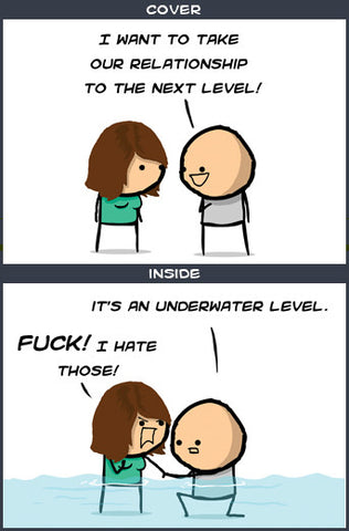Cyanide & Happiness Next Level Greeting Card