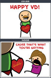 Cyanide & Happiness Happy VD Greeting Card