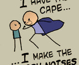 Cyanide & Happiness Cape T-Shirt