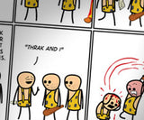 Cyanide & Happiness Cavemen Print (autographed)